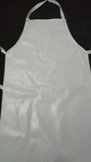 Mandil Ahulado Largo, Blanco, Ahulado Pvc, Unisex 96x57cm