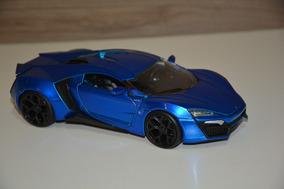 Carrinho Miniatura Lykan Hypersport Azul Jada 1:24