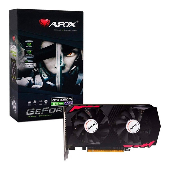 Placa Video Afox 4gb Gtx 1050ti Ddr5 128bit Pci-e Hi End
