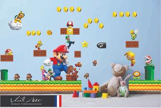 Vinil Decorativo Mario Bros Y Luigi