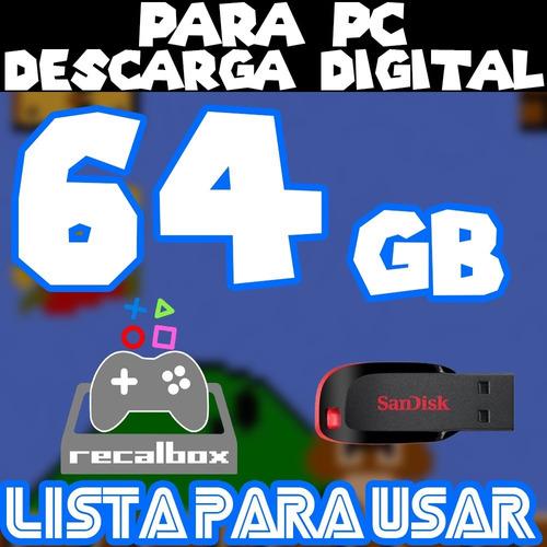 Archivo Imagen Recalbox 64g P/pc Con Pendrive 10 Mil Juegos