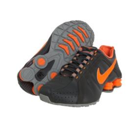de98cb03697 Tênis Nike Shox Júnior Grafite Laranja Original Tam.34