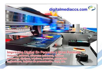 Impresion Digital En Glassé, Volantes, Afiches, Cd´s, Etc.