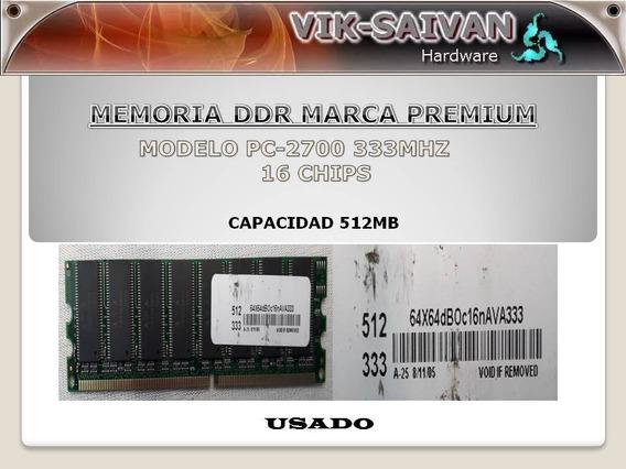 Memoria Ddr Premium 512mb Pc-2700 333mhz 16 Chips 1