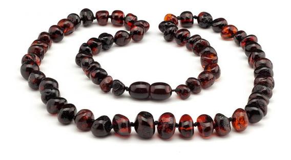 Colar De Âmbar Adulto Barroco Cherry Polido - 50 Cm-original
