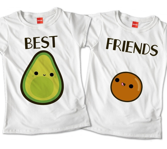 Blusas Mejores Amigas Aguacate Best Friends Playera #725