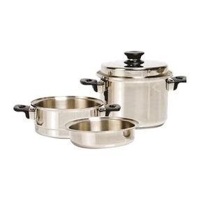 Caçarola A Vapor - 03 Pecas - Antiaderente - Icook Cozinha