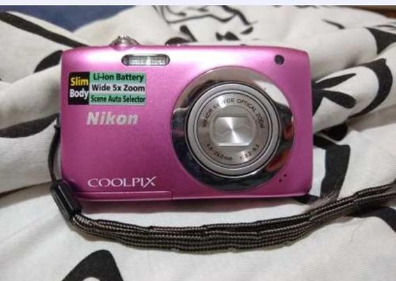 Câmera Nikon Coolpix S2600 Semi-nova Rose