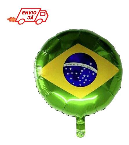 Imagem 1 de 1 de Balão Metalizado Bandeira Brasil