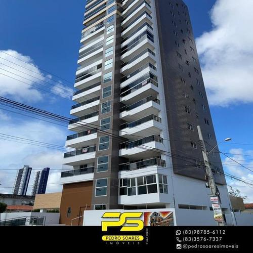 Apartamento Com 3 Dormitórios À Venda, 93 M² Por R$ 380.000 - Estados - João Pessoa/pb - Ap3883