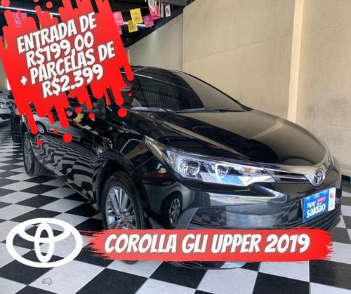 Toyota Corolla Gli Upper  Preta 2018/2019 Flex Aut