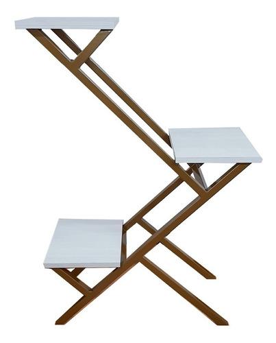 Repisa Vertical De 3 Niveles Decorativa, Porta Materas