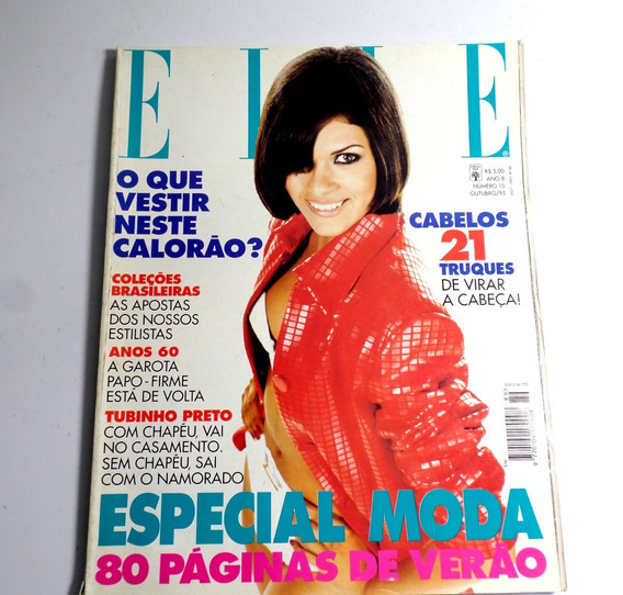 Revista Elle Outubro 1995 Incompleta Patricia Pillar Moda