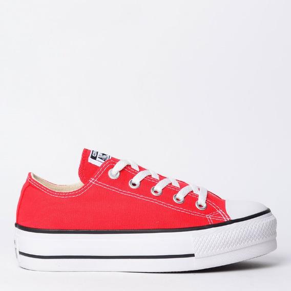 Tênis Converse All Star Plataforma Vermelho