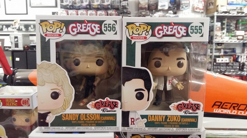 Funko Pop! Grease Danny Zuko + Sandy Olsson Vaselina C 2 Pz