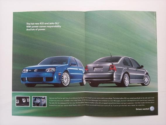 Volkswagen Golf R32 E Jetta Gli - Propaganda Antiga - Eua