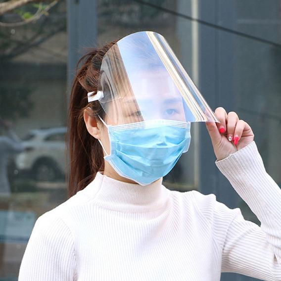 Máscara Transparente Protetora Do Rosto Viseira Transparente