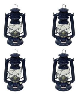 Caixa C/ 4 Unidades - Lampião Querosene A Pavio 24cmx14cm