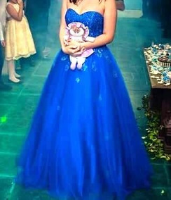 ef924213d Vestido 15 Anos Azul Royal - Vestidos De 15 anos Femininas no ...