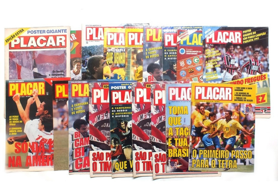 18 Revistas Placar Com Edições Especiais Colecionavel B6054