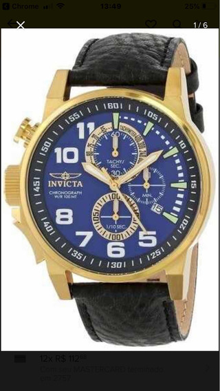 Relógio Invicta 13055 Force Collection Banhado A Ouro 18k
