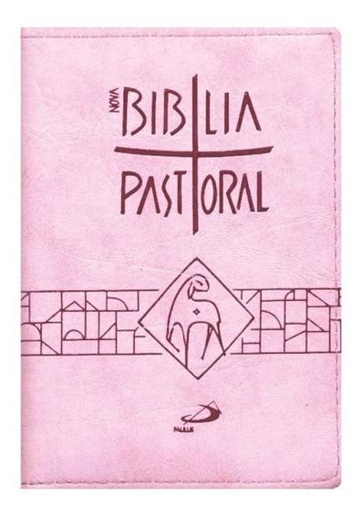 Livro Nova Bíblia Pastoral Zíper Rosa Editora Paulus