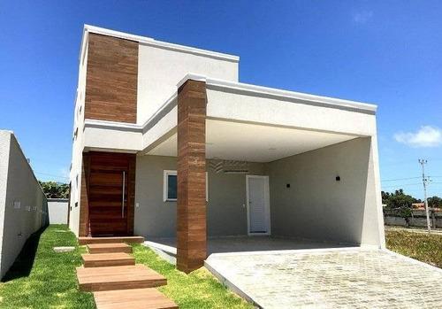 Casa Duplex Com 3 Quartos À Venda, 160 M², Nova, Cond. Fechado, Financia - Mangabeira - Eusébio/ce - Ca0359