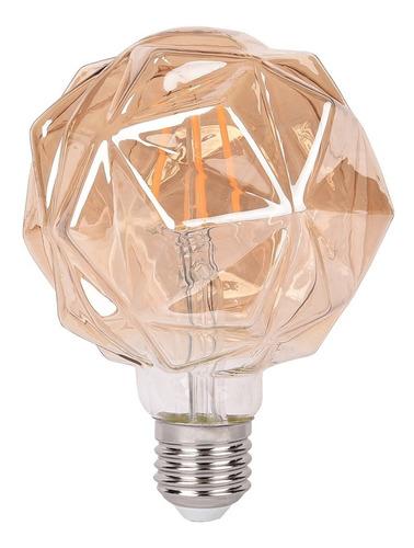 Bombillo Filamento Diamante Led 4w Decorativo Vintage X2