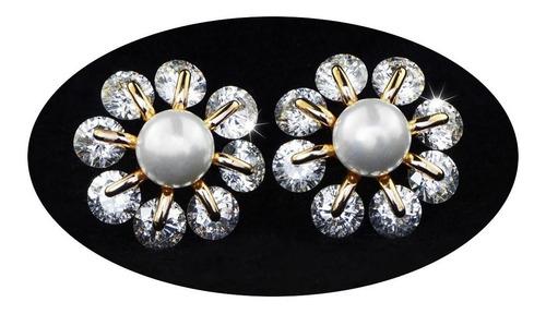 Imagen 1 de 9 de Pendientes Aretes Broqueles Oro 18k Dama Mujer Elegante Lujo