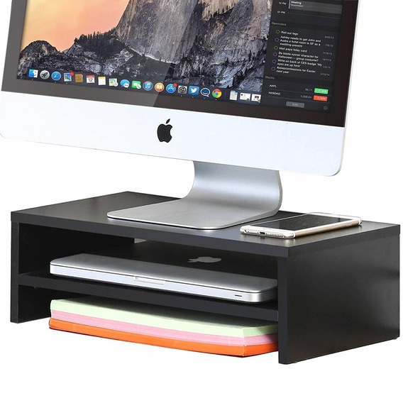 Fitueyes Computer Monitor Stand Tv Shelf Risers 16.7 Inch