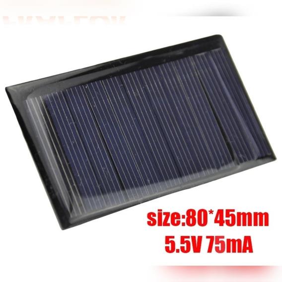 Placa Solar 5.5v 75ma 80mmx45mm