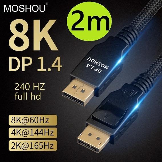 Cabo Display Port Moshou 1.4 P Monitor Gamer 240hz 8k- 2m