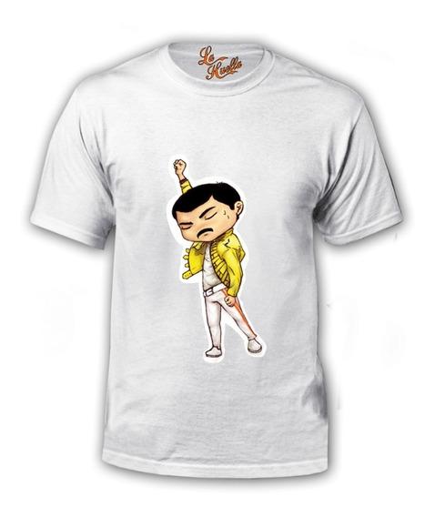 Polera Queen - Freddie Mercury Caricatura / Lho