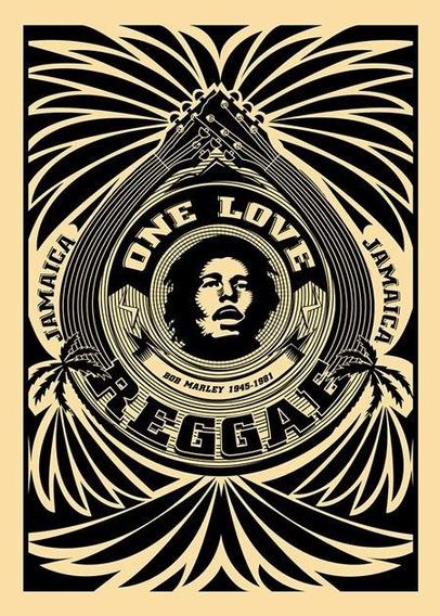 Camisa Camiseta Bob Marley One Love Reggae Poster P&b