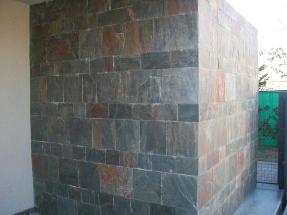 Laja San Luis Verde Rosada 0.15 X Ll Revestimiento Pared/piso Ext/int
