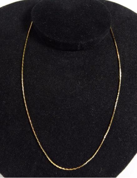 Corrente Feminina 42cm Banhada Em Ouro Amarelo Colar - J3078