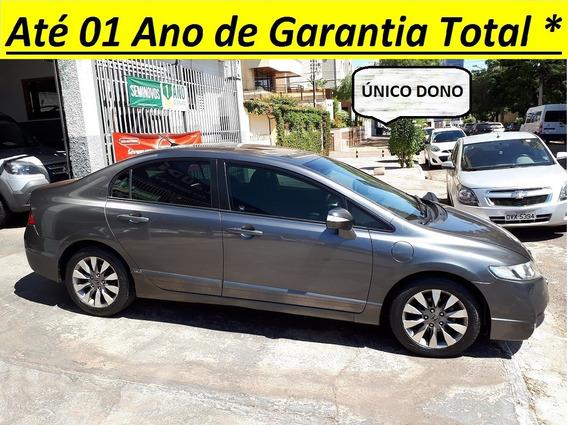 Honda / Civic Lxl 1.8 Flex Completo Automatico Couro Un Dono