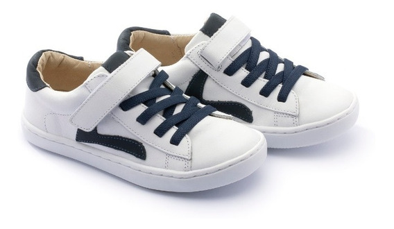 Tênis Tip Toey Joey Little Skid - White/ Navy - 36861