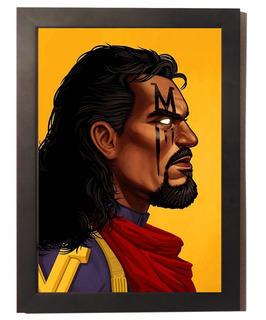 Quadro Poster Com Moldura Bishop X Men Marvel Vingadores Hq