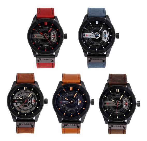 Relógio Masculino Curren 8301 Couro Luxo Original
