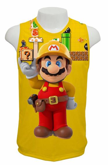 Camiseta Game Super Mario Maker - Regata