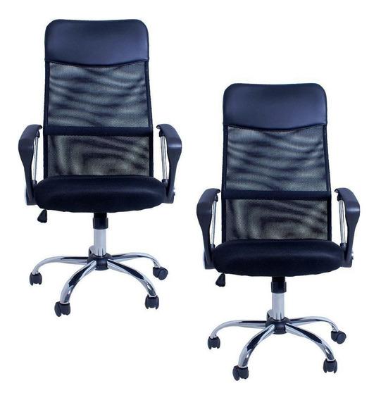 Kit 02 Cadeiras Giratórias Para Escritório Excellence Office