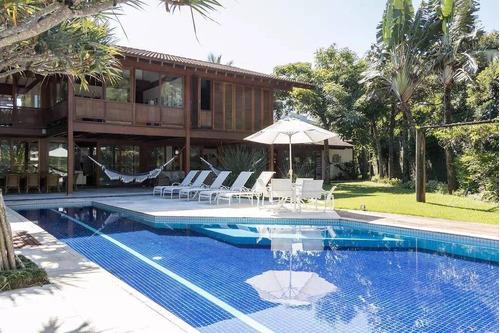 Casa Com 5 Dormitórios À Venda, 550 M² Por R$ 7.500.000,00 - Condomínio Hanga Roa - Bertioga/sp - Ca0573