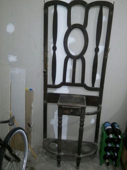 Mueble Para Espejo Y Paragüero Antiguedad