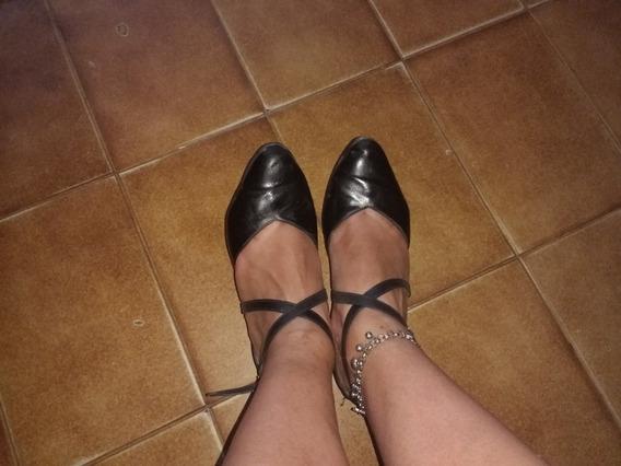 Zapatos De Tango De Cuero Talle 38