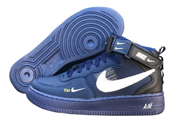 Tenis Bota Nike Air Force + Brinde Kit C/ 3 Pares De Meias