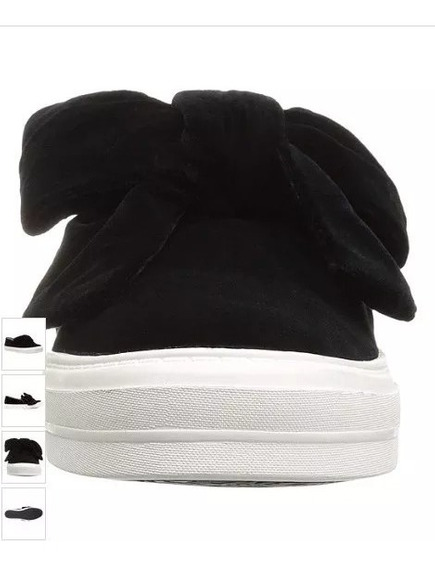Tenis Nine West Negro Terciopelo