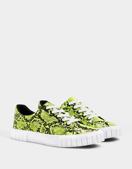 Zapatos De Dama Bershka Importados (2019) Estampado (30dls)