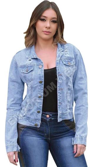 Jaqueta Jeans Feminina Desfiada Melhor Preço Atacado