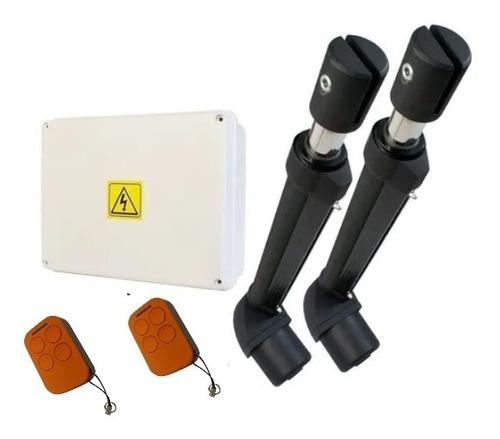 Kit Porton Automatico Batiente Alse Domo 2 Hojas 2 Controles